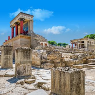 Het Knossos-paleis in Heraklion op Kreta
