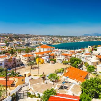 Uitzicht op de stad Rethymnon op Kreta