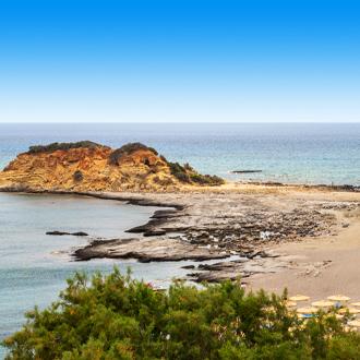 Badplaats Kiotari op het Griekse eiland Rhodos