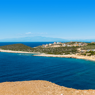 Het strand op het Griekse eiland Thassos