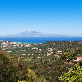 Panorama uitzicht op het Griekse dorpje Tsivili