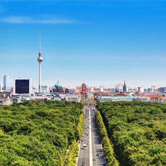 Groene bossen en de stadsrand in Berlijn