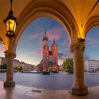 Grote marktplein in Krakau, Polen