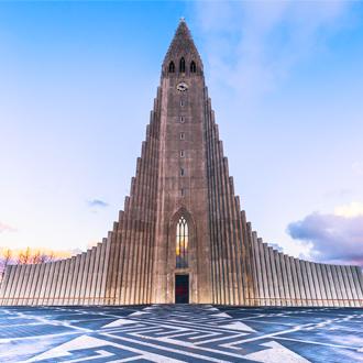 Hallgrimskirkja kerk in Reykjavik, IJsland