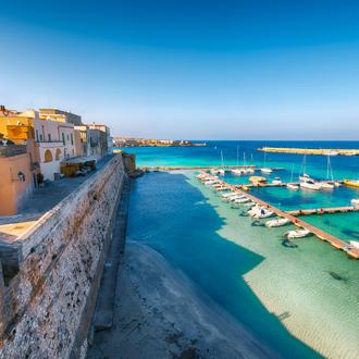 Otranto haven in de buurt van Lecce
