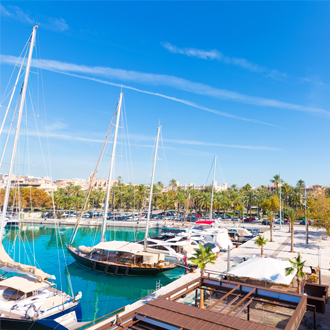 Haven met boten en water