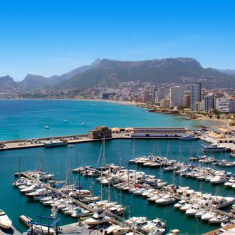 Haven van Calpe in Spanje