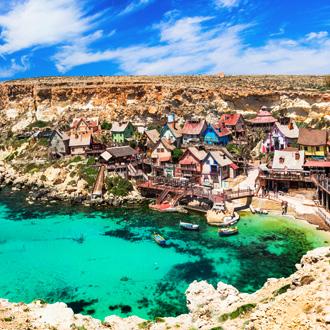 Het dorp Popeye van de film, in Mellieha, Malta