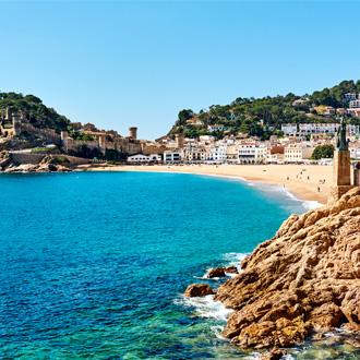 Het oude deel van het centrum van Tossa de Mar, Costa Brava, Spanje