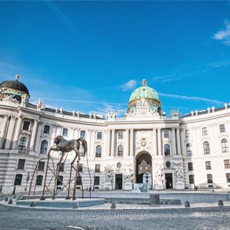 De Hofburg in Wenen in Oostenrijk