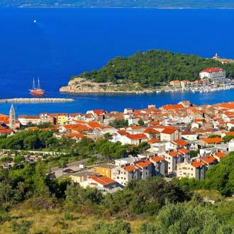 Huisjes bij Makarska, Kroatie