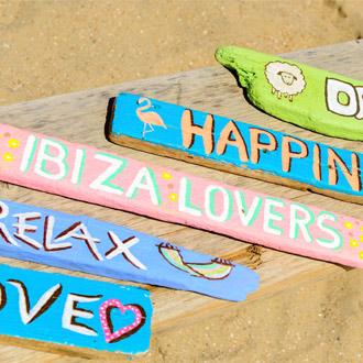 Ibiza hippie markt op het strand