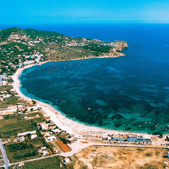 Bovenuitzicht van Talamance op Ibiza