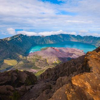 De Rinjani vulkaan op Lombok