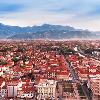 Italie bovenaanzicht van viareggio