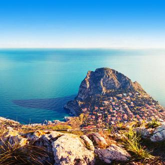 De kaap Zafferano op het eiland Sicilie, in de stad Palermo, Italie