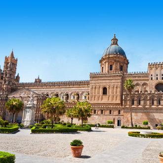 Kathedraal in Palermo op Sicilie, Italie