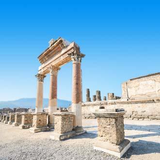 Oude ruïnes in Pompeii