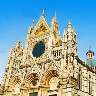 Een kathedraal in Siena in Italie, Toscane