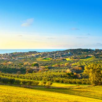 Natuurlandschap van San Vincenzo in Toscane, Italie