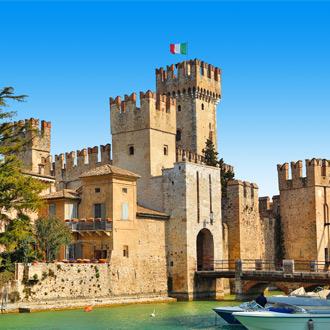 Het kasteel Scaliger in Sirmione, Italië