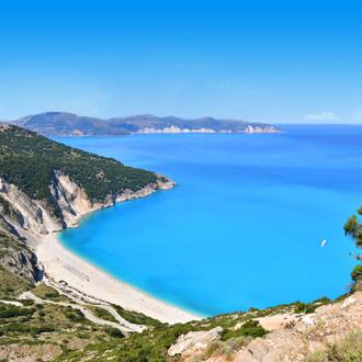 Myrtos Beach op het eiland Kefalonia