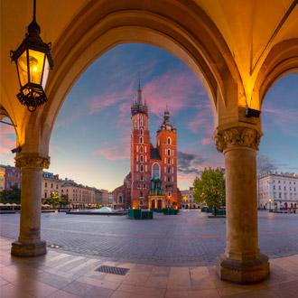Uitzicht op kerk in Polen