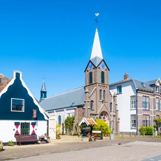 Kerkje in Oudeschild op het eiland Texel