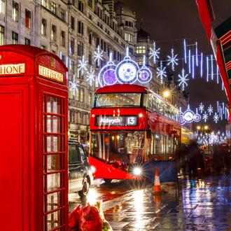 Rode bus en telefooncel Londen