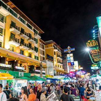 De Khao San Road in Bangkok, Thailand