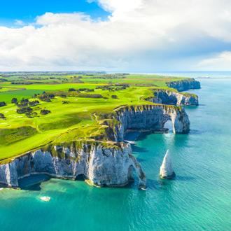 Kliffen van Etretat in Normandie