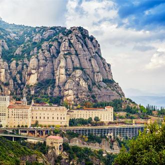 Montserrat klooster op een berg in Barcelona