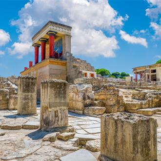Knossos Paleis in Stalis met oude ruïnes