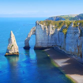 Krijtrotsen in Normandie