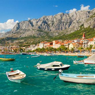 Bootjes bij Makarska, Kroatie