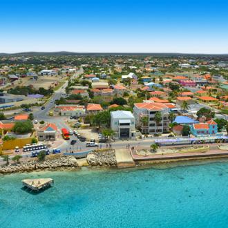 Kruispunthaven in Kralendijk, hoofdstad van Bonaire