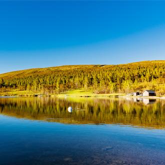 Lake Siljan in Dalarna, Zweden