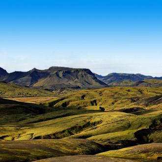 Landmannalaugar, vulkaan landschap in IJsland