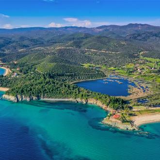 Uitzicht over het landschap van Chalkidiki