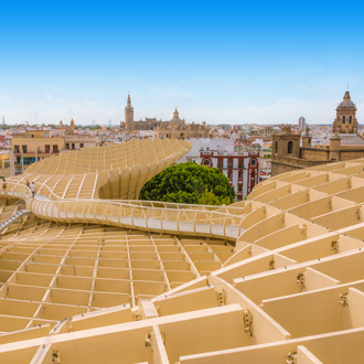 Las Setas in Sevilla toeristenattractie boven de stad