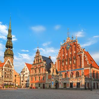 Centrum van Riga in Letland