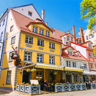 Livu vierkant in Riga stad, Letland