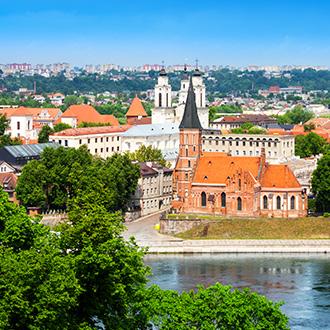 Uitzicht over de stad Vilnius in Litouwen