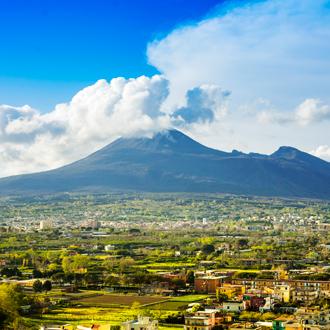 Luchtfoto van Pompei