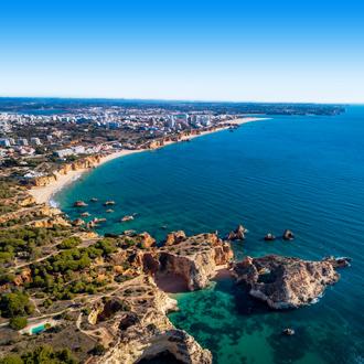 Luchtfoto Praia da Rocha, Portimao in Portugal