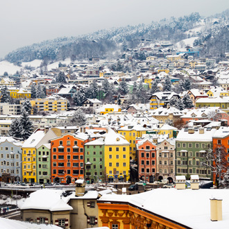 Luchtfoto van Innsbruck, Oostenrijk