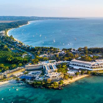 Luchtfoto van Negril, Jamaica