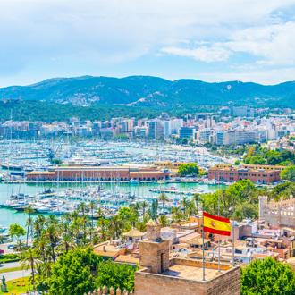 Luchtfoto van de haven van Palam de Mallorca, Spanje