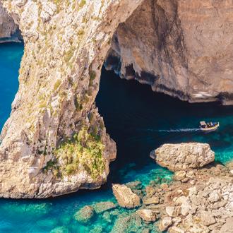 De Blue Grotto van Gozo op Malta