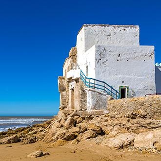 Marokko-Het-strand-dichtbij-Essaouira